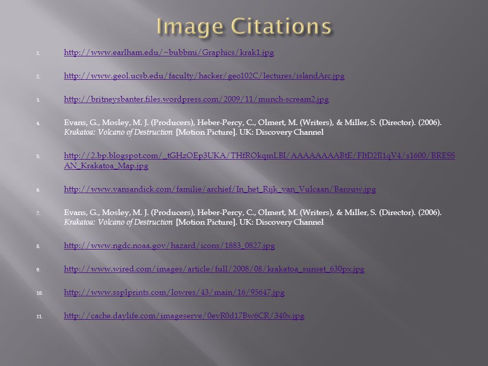 Image Citations http://www.earlham.edu/~bubbmi/Graphics/krak1.jpg