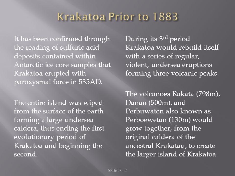 Krakatoa Prior to 1883