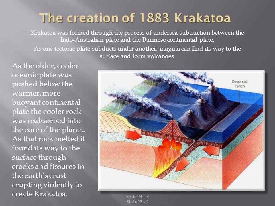 The creation of 1883 Krakatoa