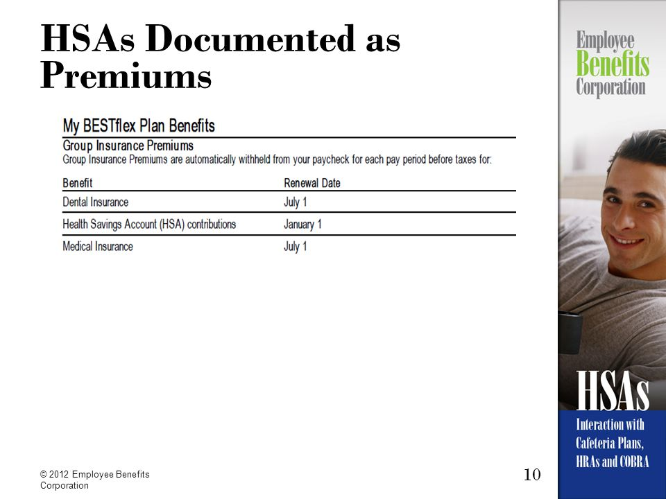 HSAs Documented as Premiums