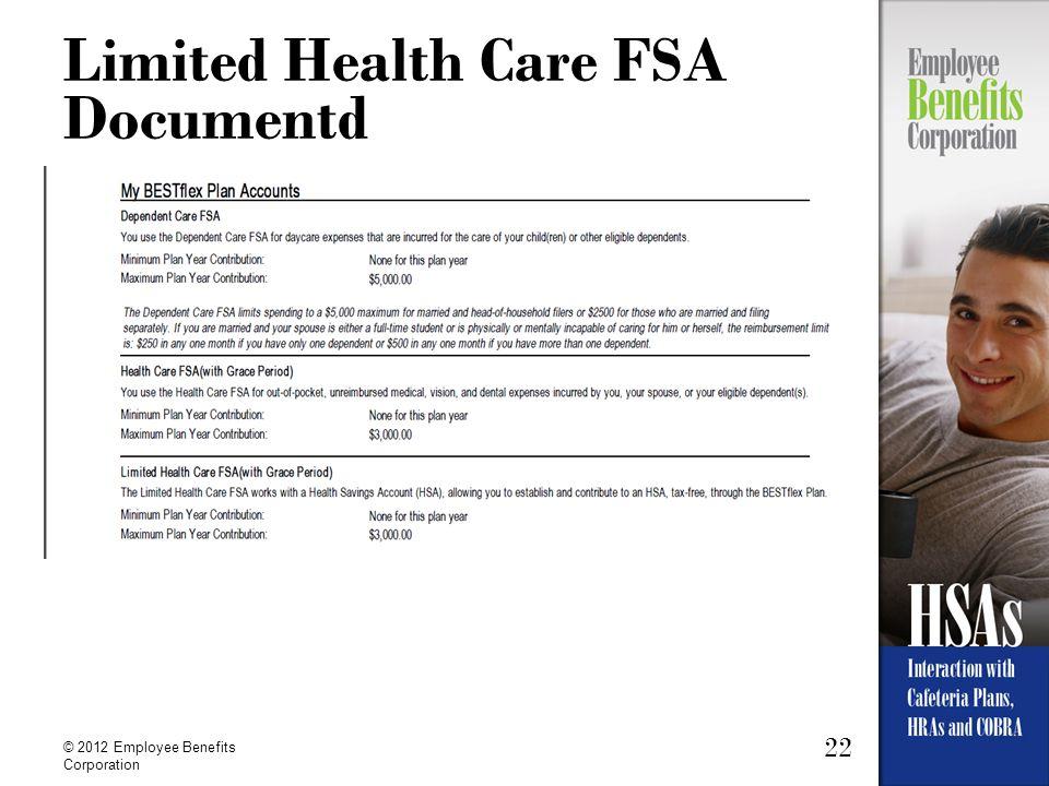 Limited Health Care FSA Documentd