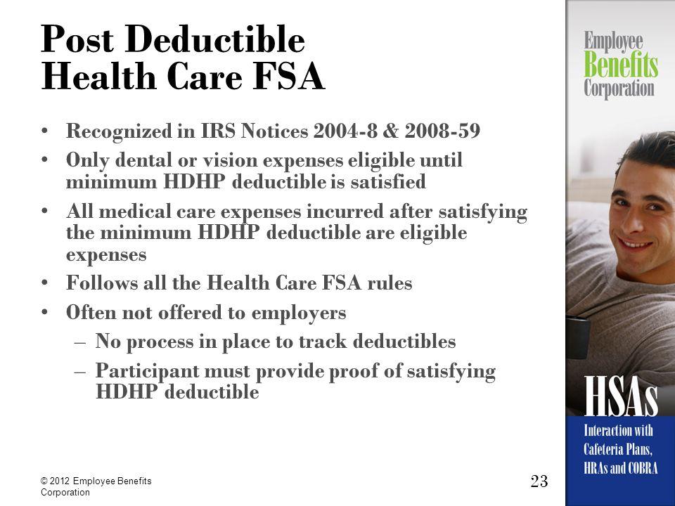 Post Deductible Health Care FSA
