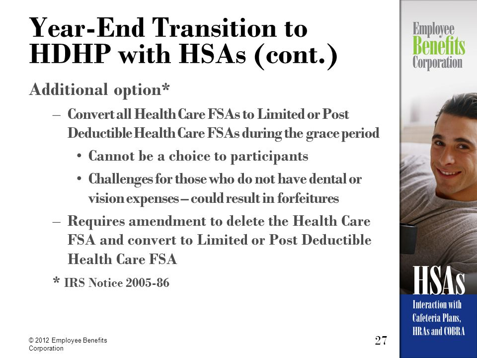 Year-End Transition to HDHP with HSAs (cont.)