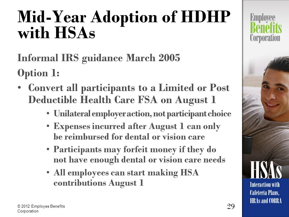 Mid-Year Adoption of HDHP with HSAs