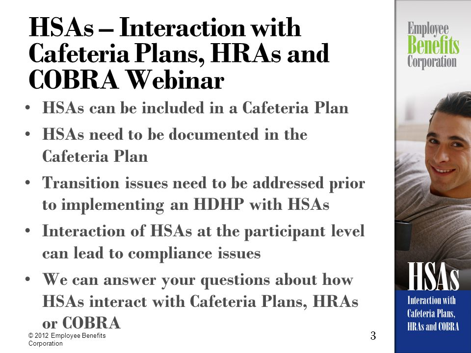 HSAs – Interaction with Cafeteria Plans, HRAs and COBRA Webinar