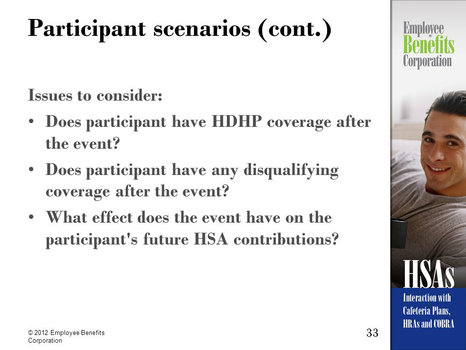 Participant scenarios (cont.)