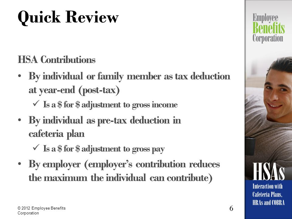 Quick Review HSA Contributions