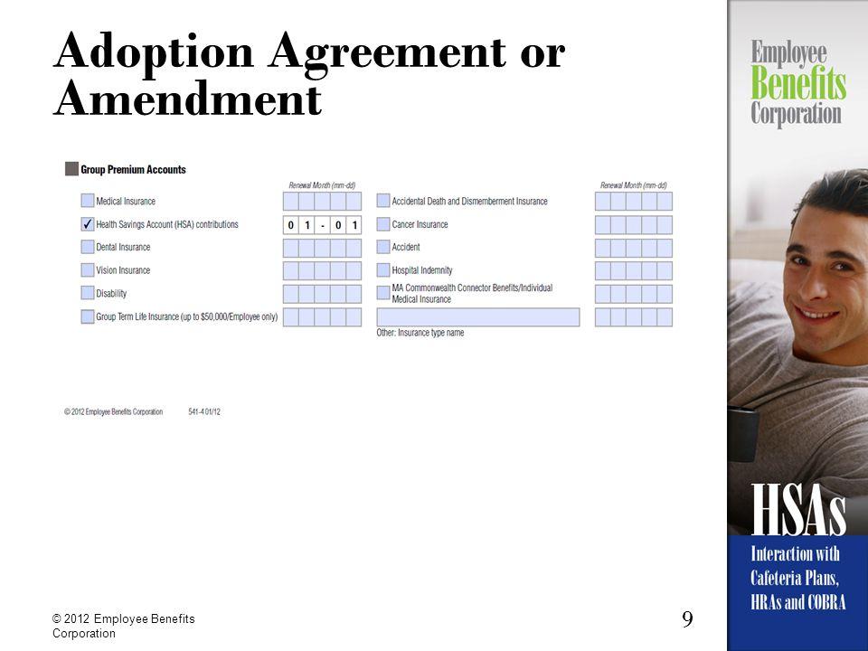 Adoption Agreement or Amendment