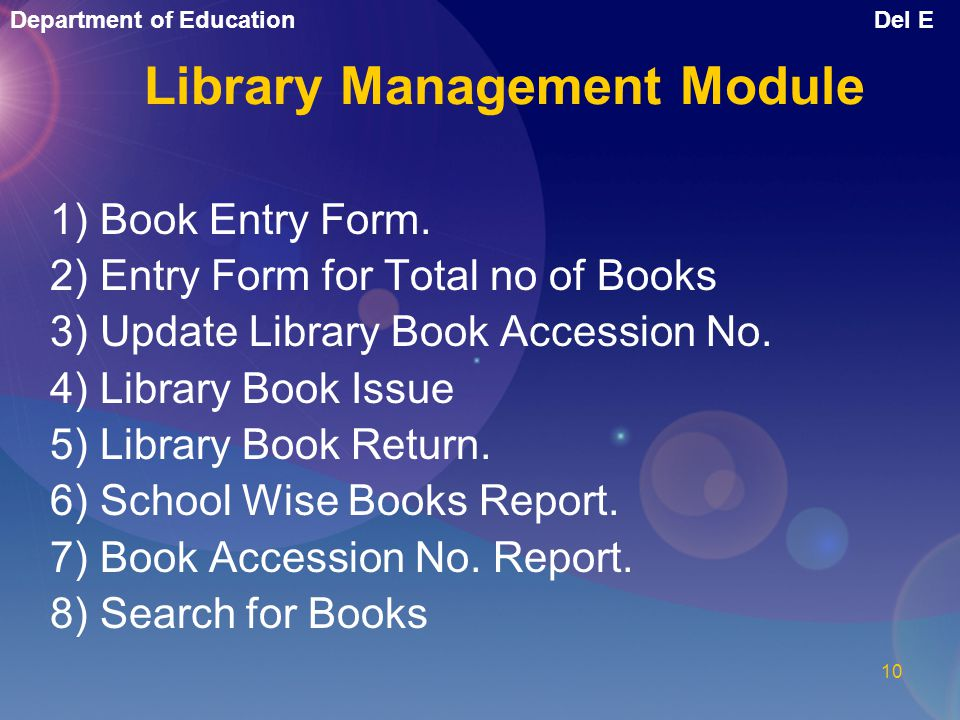 Library Management Module