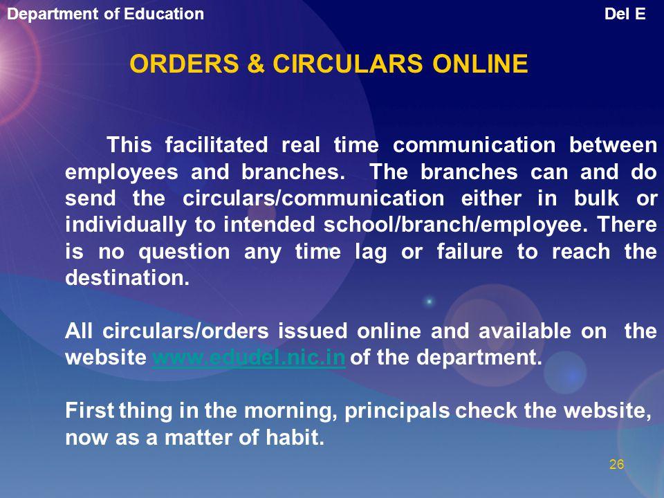 ORDERS & CIRCULARS ONLINE