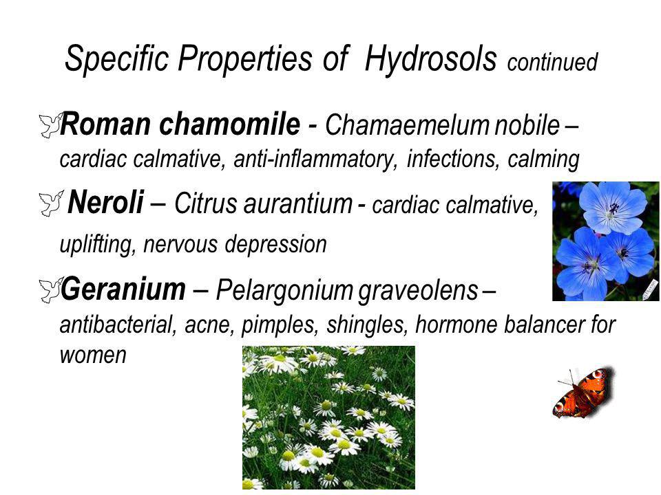 Specific Properties of Hydrosols continued