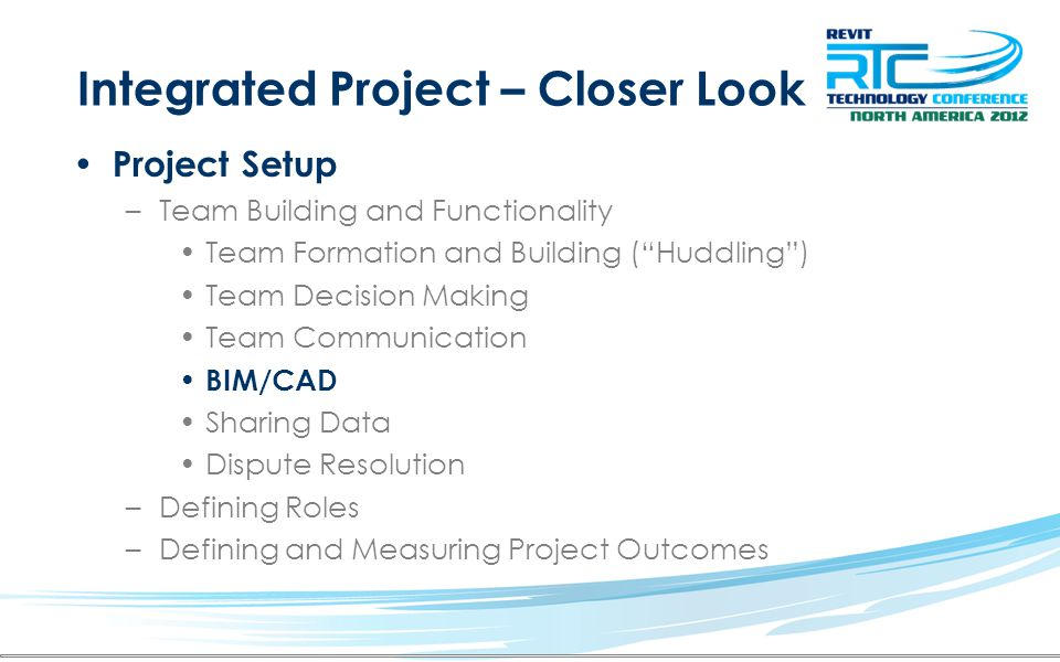 Integrated Project – Closer Look