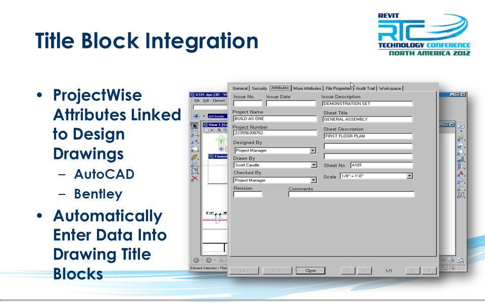 Title Block Integration