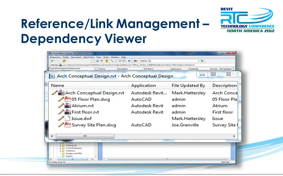 Reference/Link Management – Dependency Viewer
