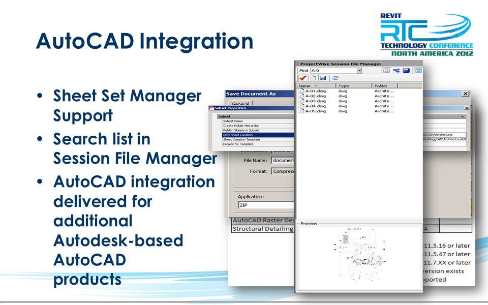 AutoCAD Integration Sheet Set Manager Support