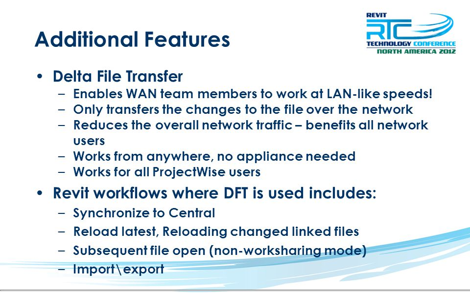 Additional Features Delta File Transfer