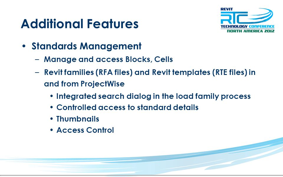 Additional Features Standards Management