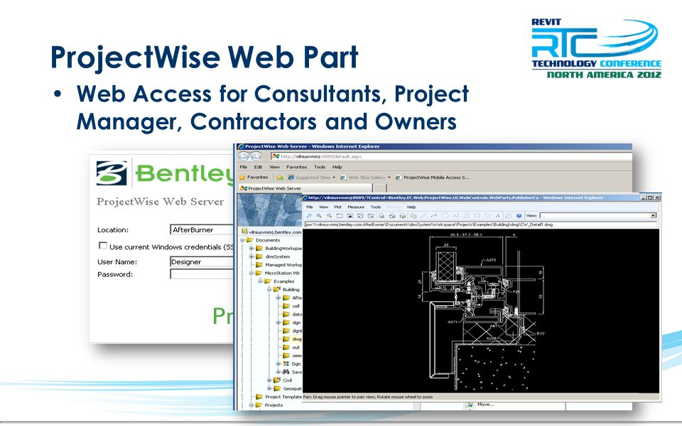ProjectWise Web Part Web Access for Consultants, Project Manager, Contractors and Owners