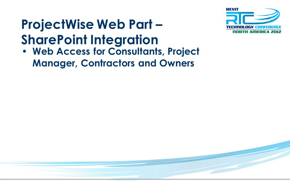 ProjectWise Web Part – SharePoint Integration