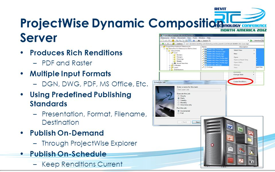 ProjectWise Dynamic Composition Server