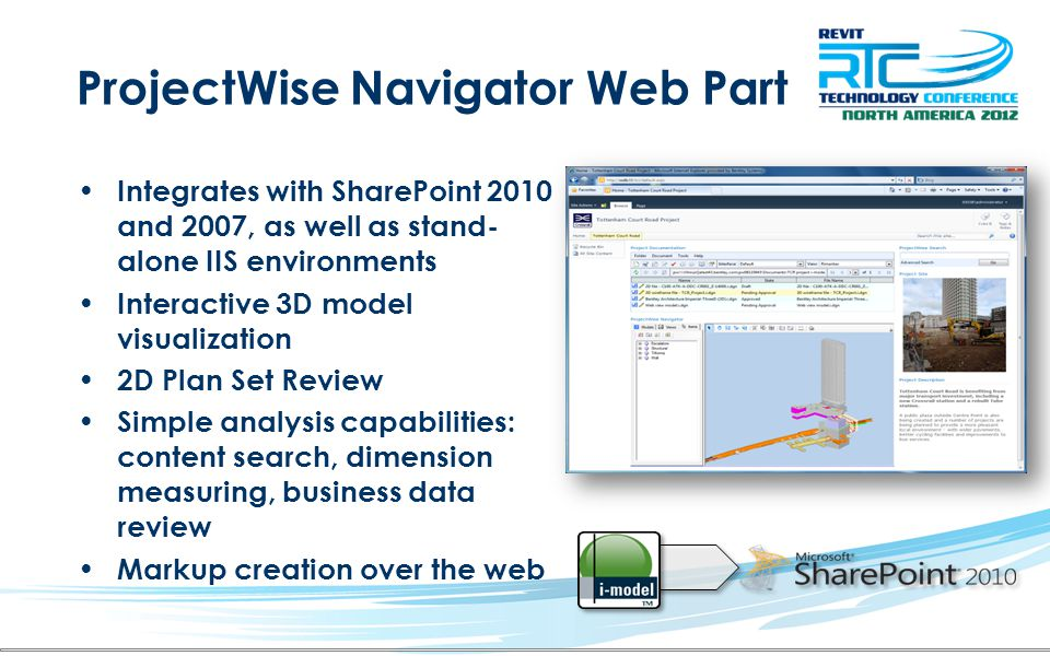 ProjectWise Navigator Web Part