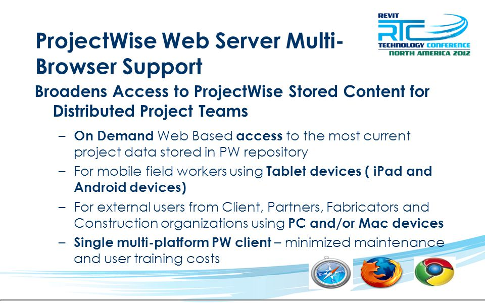 ProjectWise Web Server Multi-Browser Support
