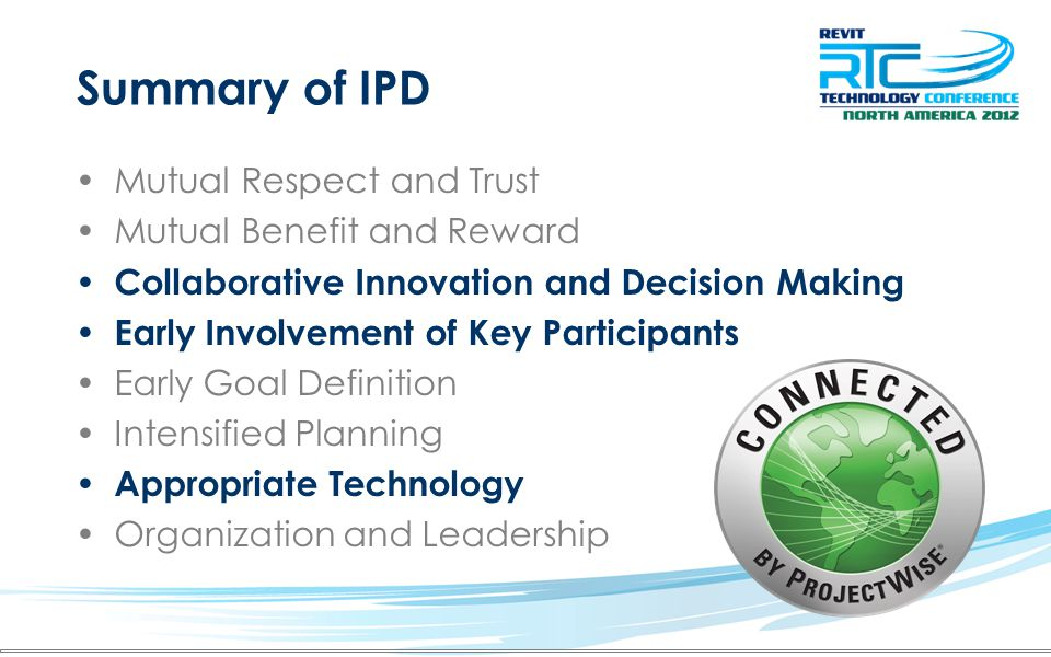 Summary of IPD Mutual Respect and Trust Mutual Benefit and Reward