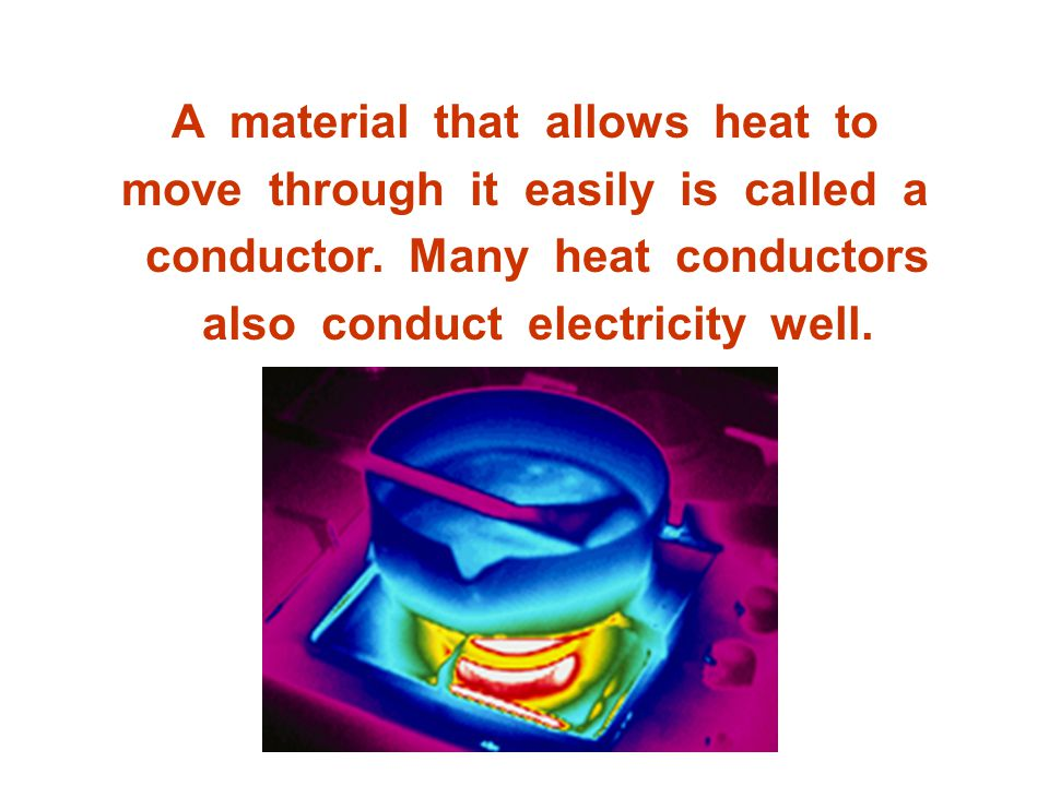 A material that allows heat to move through it easily is called a