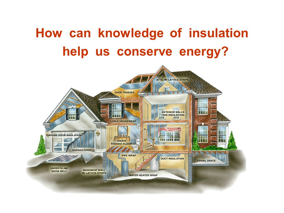 How can knowledge of insulation help us conserve energy