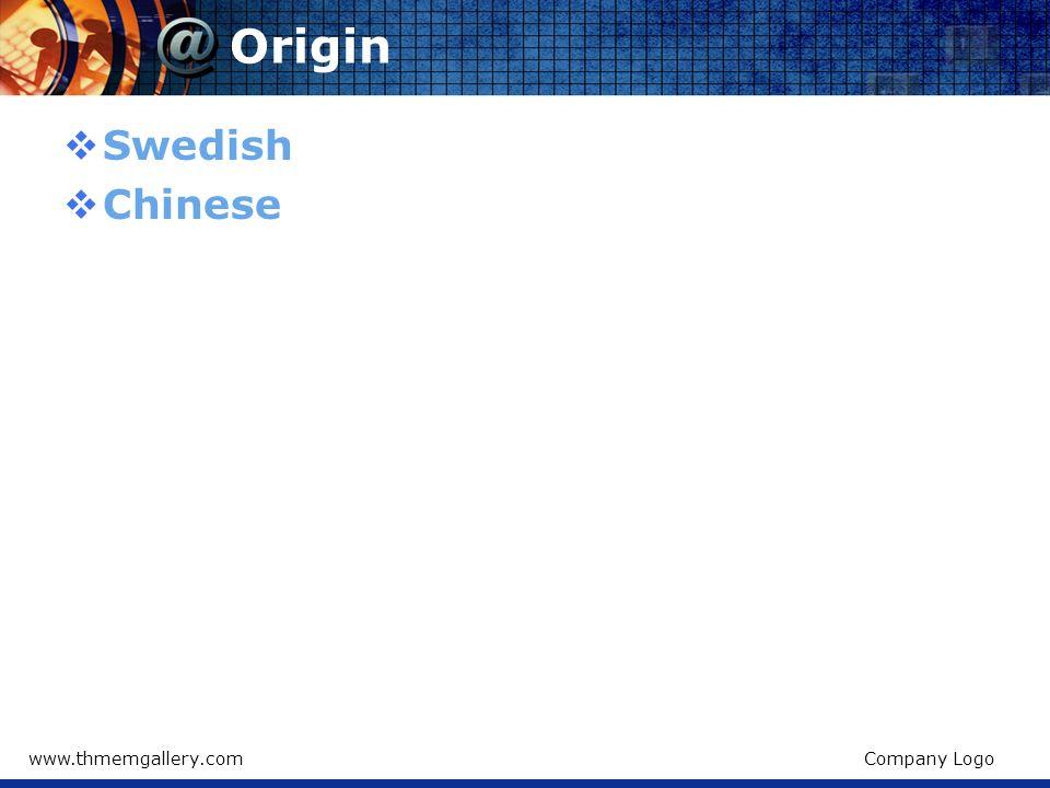 Origin Swedish Chinese www.thmemgallery.com Company Logo