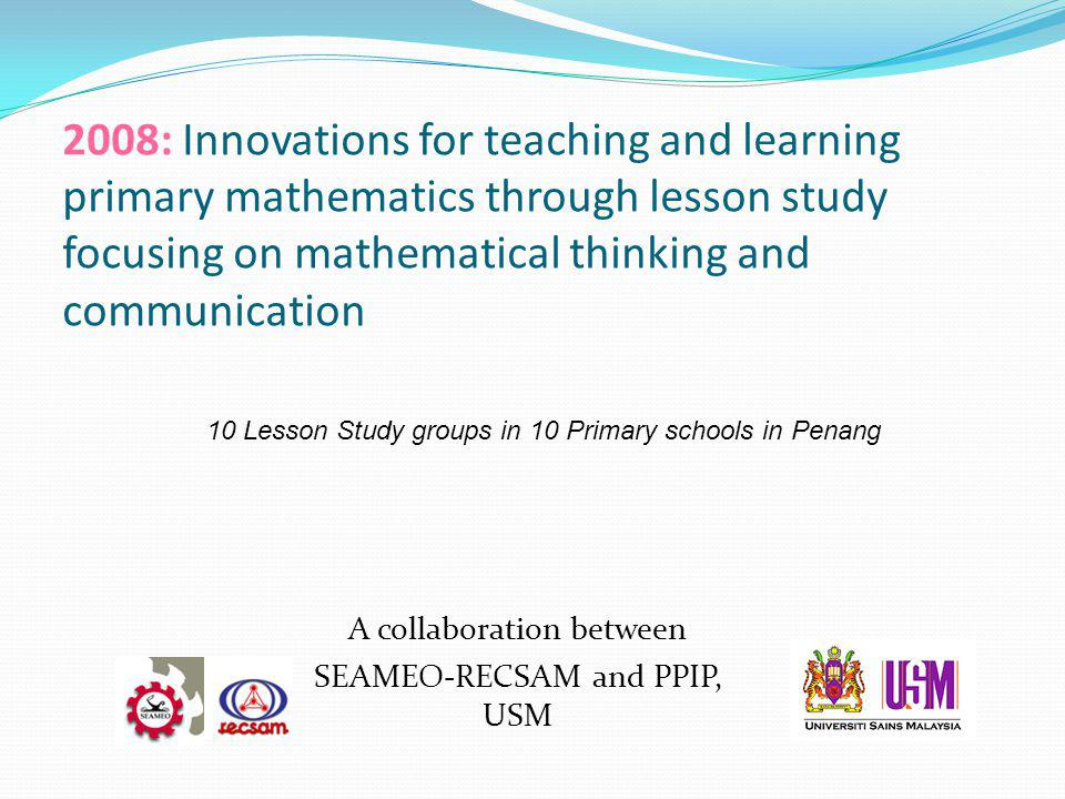 A collaboration between SEAMEO-RECSAM and PPIP, USM