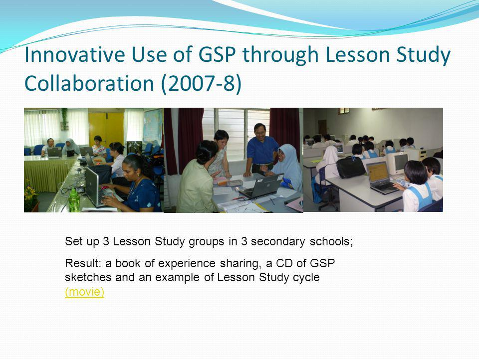 Innovative Use of GSP through Lesson Study Collaboration (2007-8)