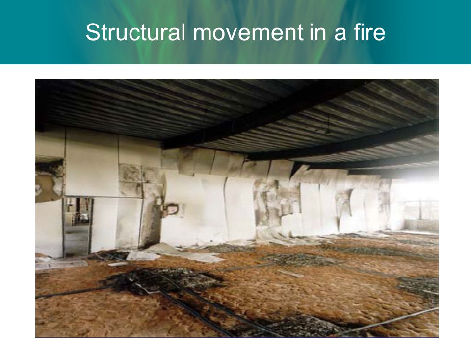 Structural movement in a fire