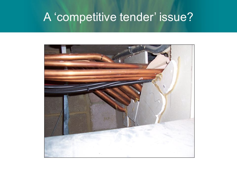A 'competitive tender' issue