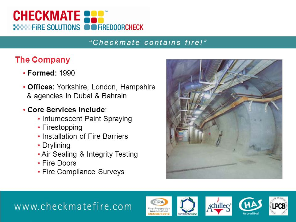 Checkmate contains fire!