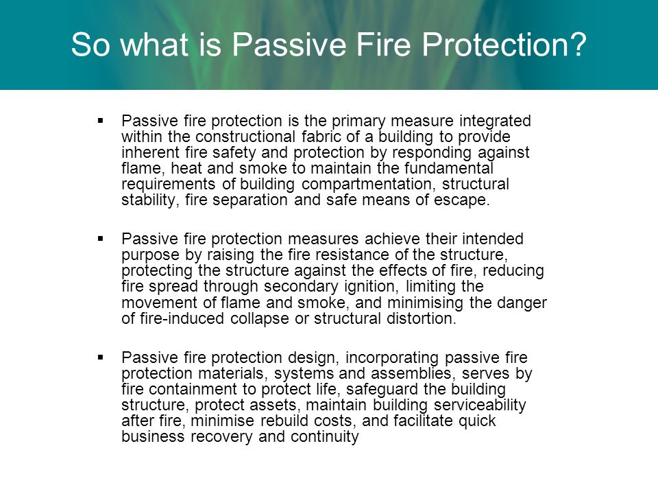Passive fire protection presentation ppt video online