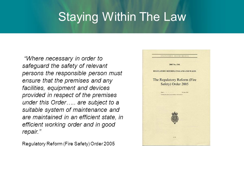 Staying Within The Law