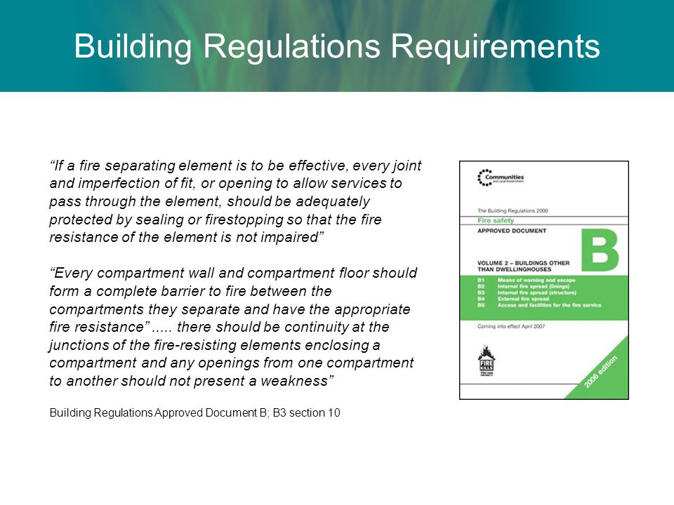 Building Regulations Requirements