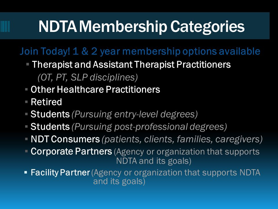 NDTA Membership Categories