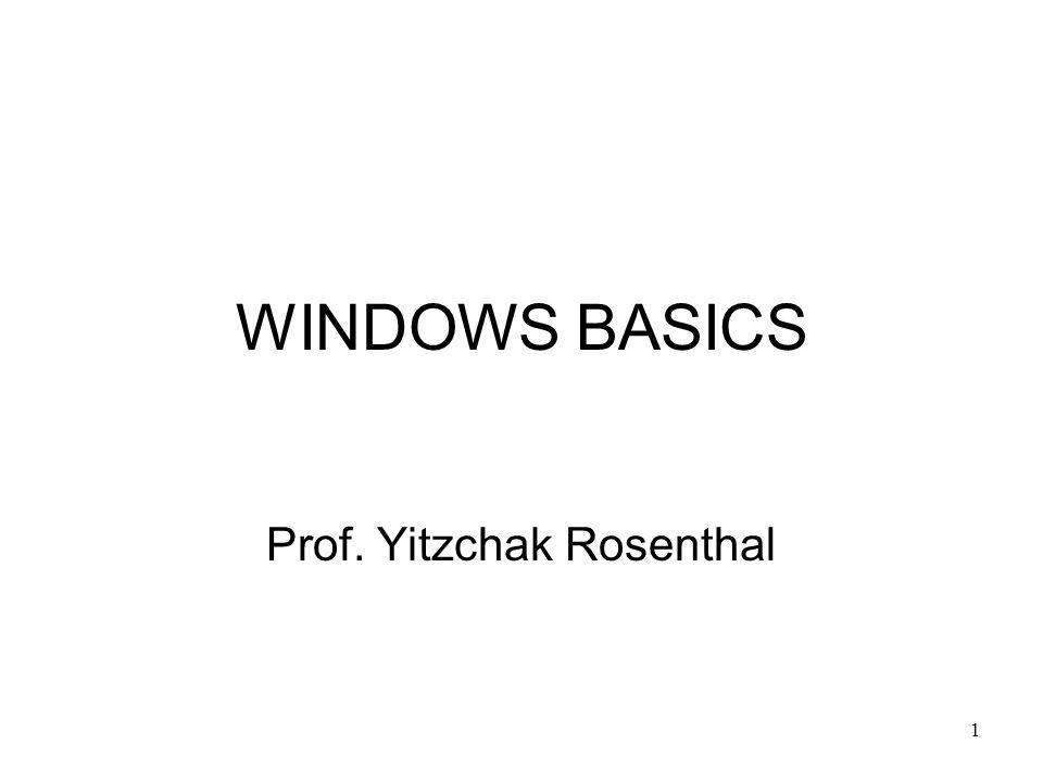 Prof. Yitzchak Rosenthal
