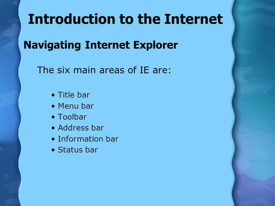 Introduction to the Internet