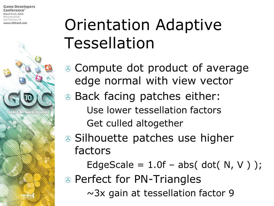 Orientation Adaptive Tessellation
