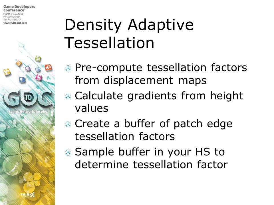 Density Adaptive Tessellation