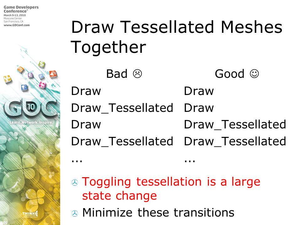 Draw Tessellated Meshes Together