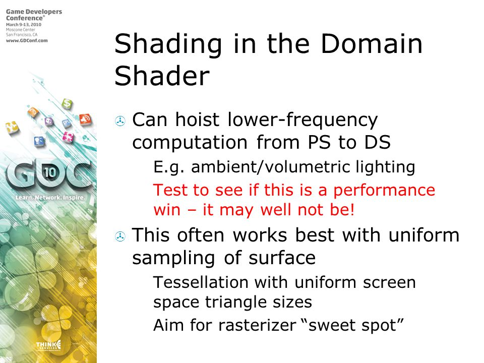 Shading in the Domain Shader