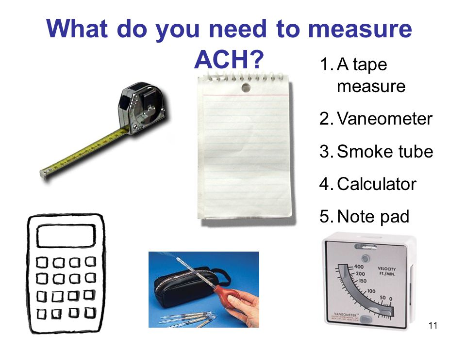 What do you need to measure ACH