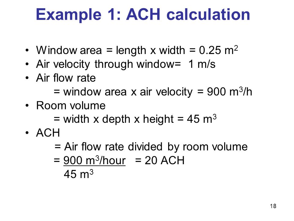 Example 1: ACH calculation
