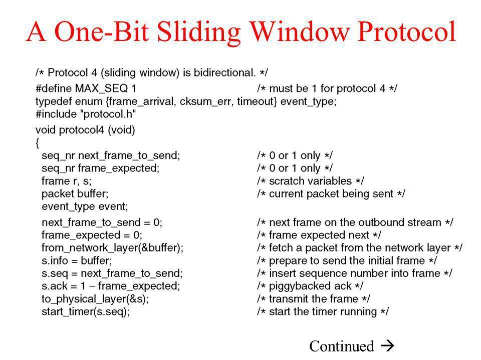 A One-Bit Sliding Window Protocol