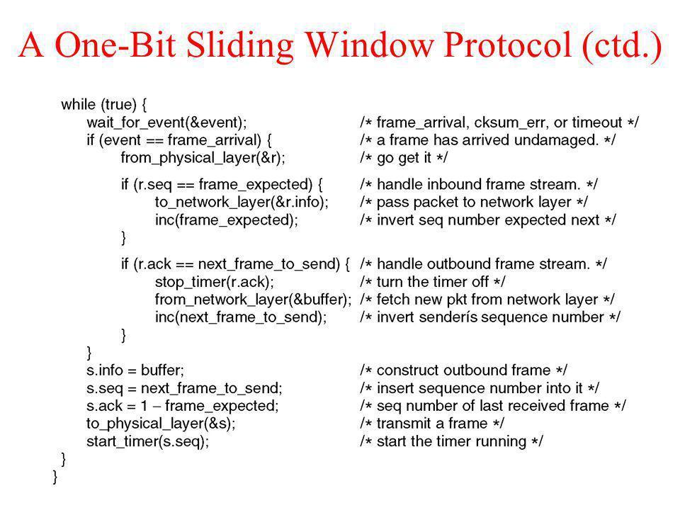 A One-Bit Sliding Window Protocol (ctd.)