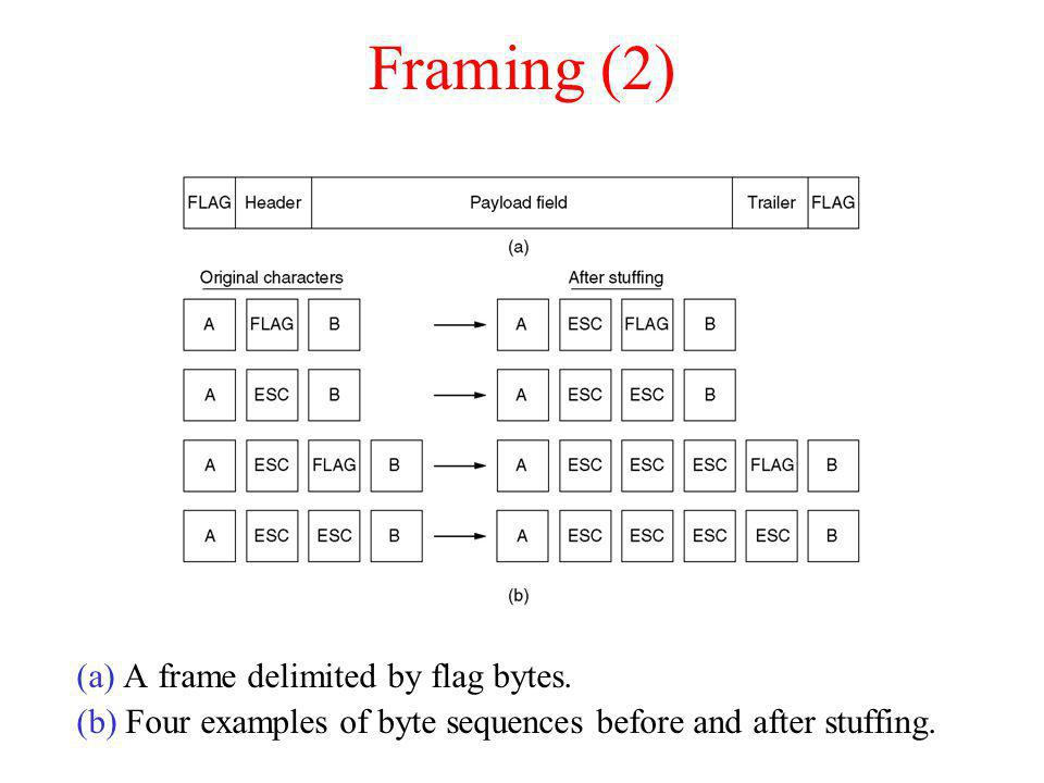 Framing (2) (a) A frame delimited by flag bytes.